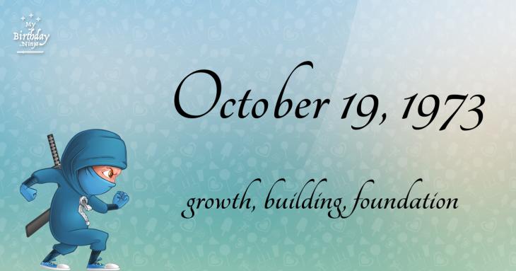 October 19, 1973 Birthday Ninja