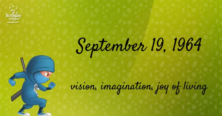 September 19, 1964 Birthday Ninja