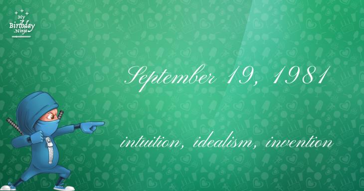 September 19, 1981 Birthday Ninja