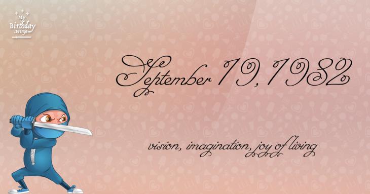 September 19, 1982 Birthday Ninja