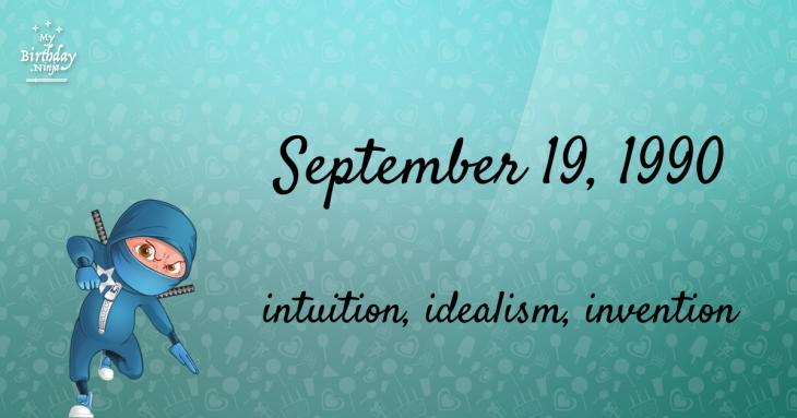 September 19, 1990 Birthday Ninja