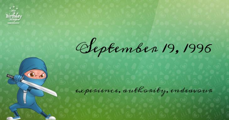 September 19, 1996 Birthday Ninja