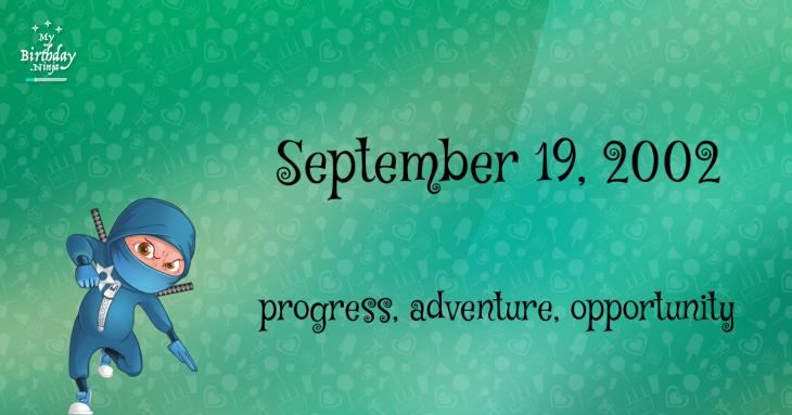 September 19, 2002 Birthday Ninja