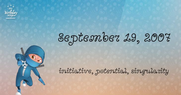 September 19, 2007 Birthday Ninja