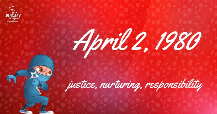 April 2, 1980 Birthday Ninja