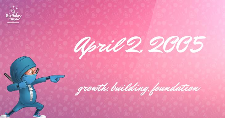 April 2, 2005 Birthday Ninja