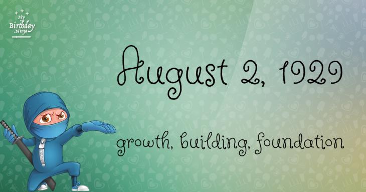 August 2, 1929 Birthday Ninja