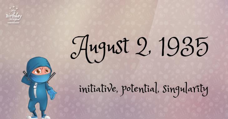 August 2, 1935 Birthday Ninja