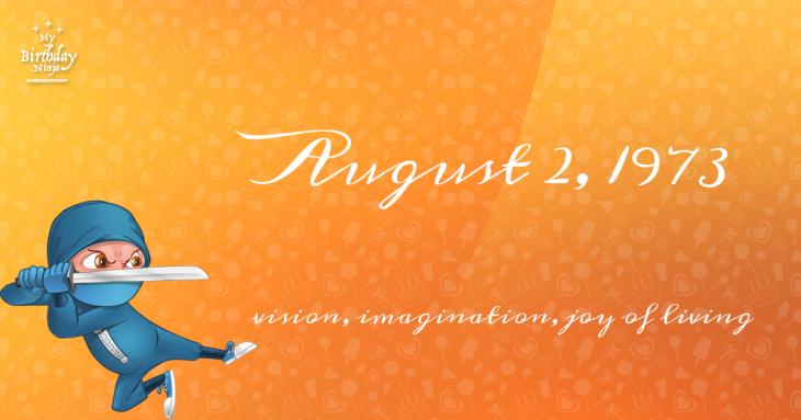 August 2, 1973 Birthday Ninja