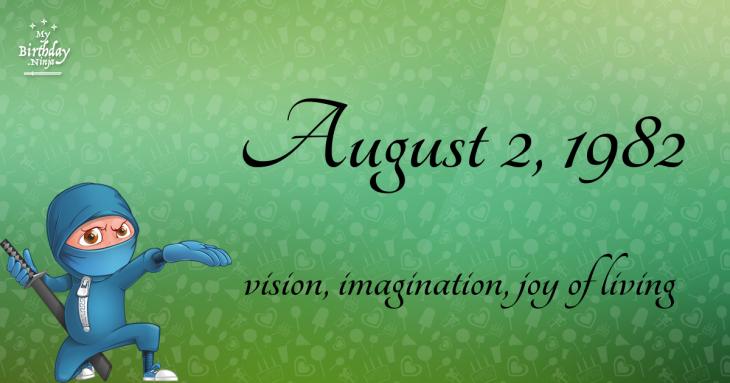 August 2, 1982 Birthday Ninja