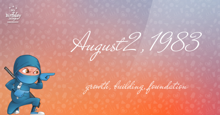 August 2, 1983 Birthday Ninja