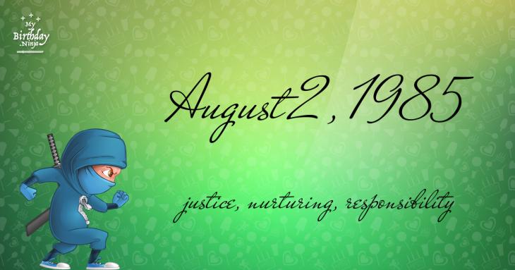 August 2, 1985 Birthday Ninja