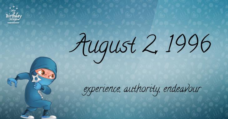 August 2, 1996 Birthday Ninja
