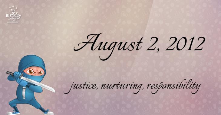 August 2, 2012 Birthday Ninja