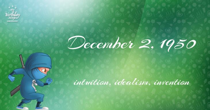 December 2, 1950 Birthday Ninja