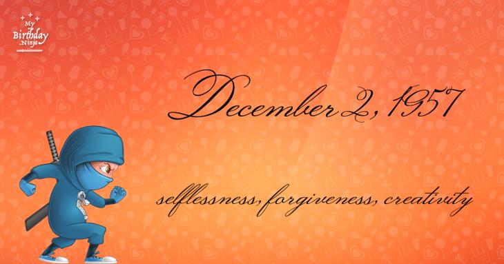 December 2, 1957 Birthday Ninja