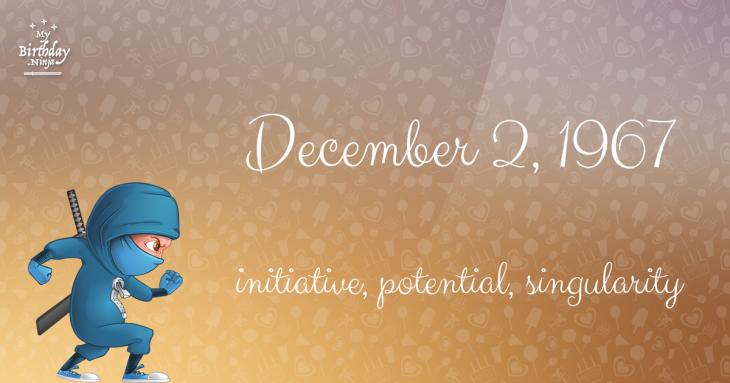 December 2, 1967 Birthday Ninja
