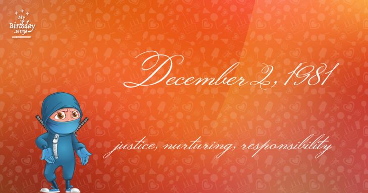 December 2, 1981 Birthday Ninja