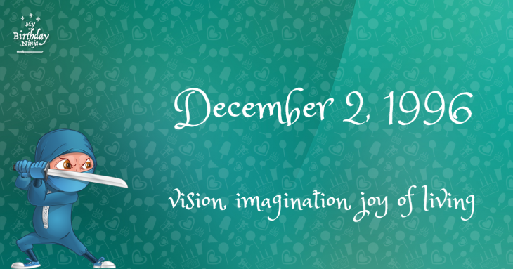 December 2, 1996 Birthday Ninja