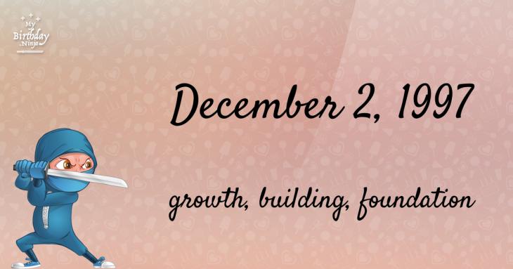 December 2, 1997 Birthday Ninja