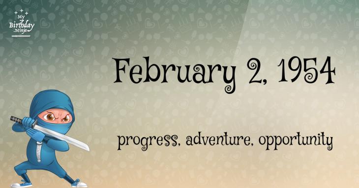 February 2, 1954 Birthday Ninja