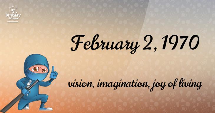 February 2, 1970 Birthday Ninja