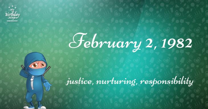 February 2, 1982 Birthday Ninja