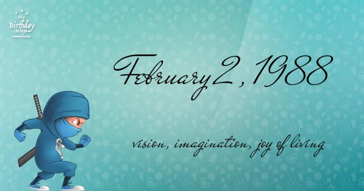 February 2, 1988 Birthday Ninja
