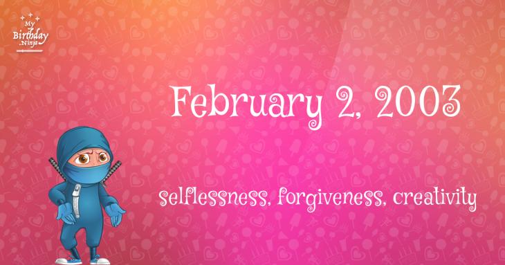 February 2, 2003 Birthday Ninja