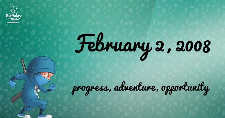 February 2, 2008 Birthday Ninja