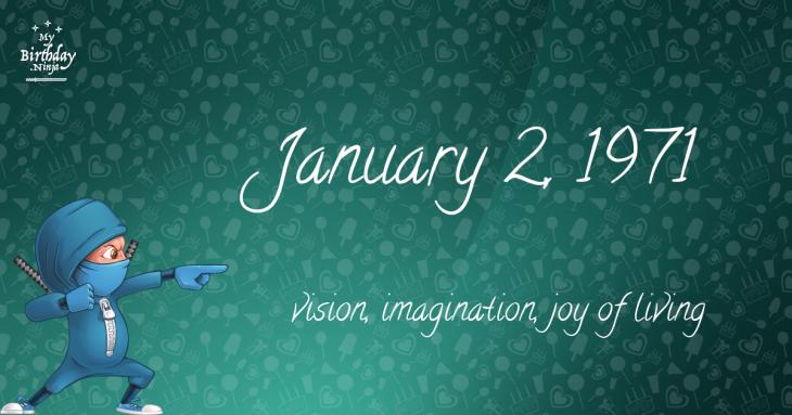 January 2, 1971 Birthday Ninja