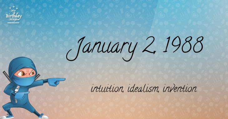 January 2, 1988 Birthday Ninja