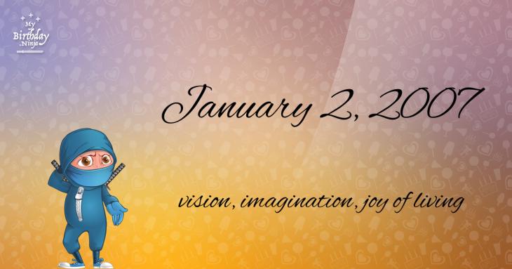 January 2, 2007 Birthday Ninja