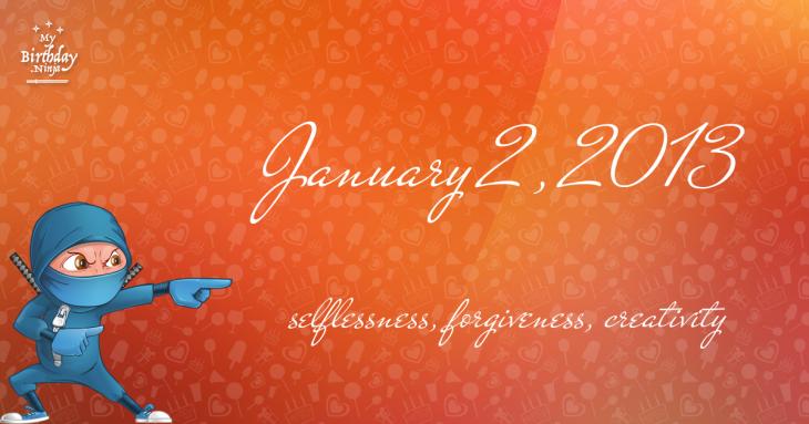 January 2, 2013 Birthday Ninja