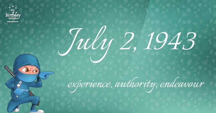July 2, 1943 Birthday Ninja