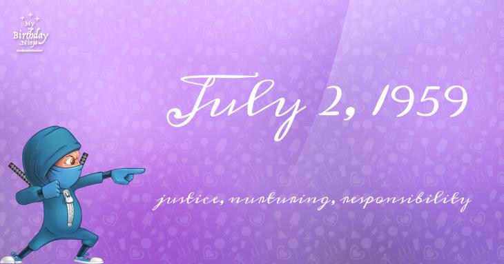 July 2, 1959 Birthday Ninja