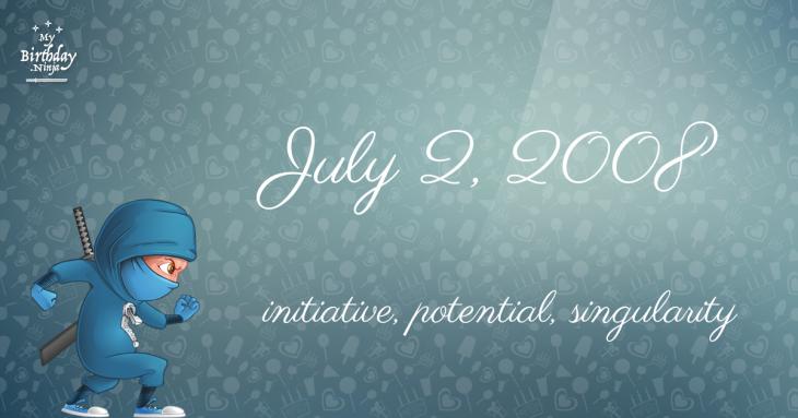 July 2, 2008 Birthday Ninja