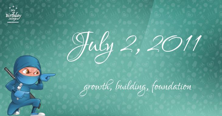 July 2, 2011 Birthday Ninja