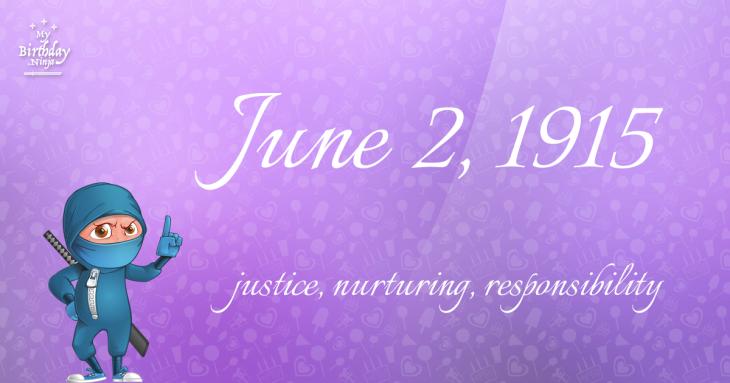 June 2, 1915 Birthday Ninja