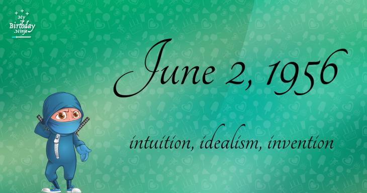 June 2, 1956 Birthday Ninja