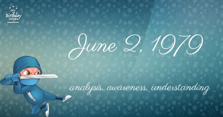 June 2, 1979 Birthday Ninja