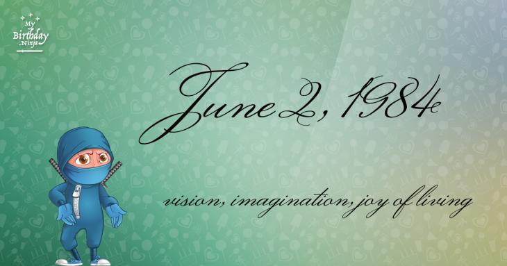 June 2, 1984 Birthday Ninja