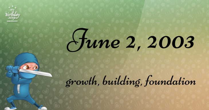 June 2, 2003 Birthday Ninja