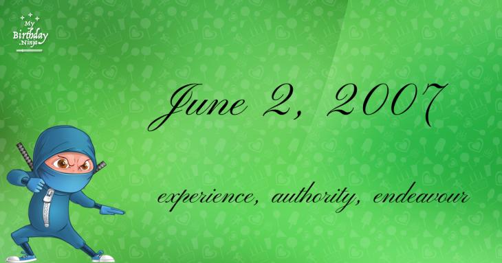 June 2, 2007 Birthday Ninja