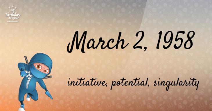 March 2, 1958 Birthday Ninja
