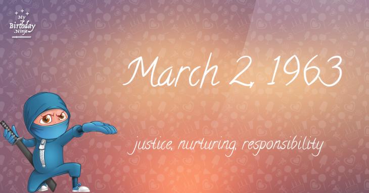 March 2, 1963 Birthday Ninja