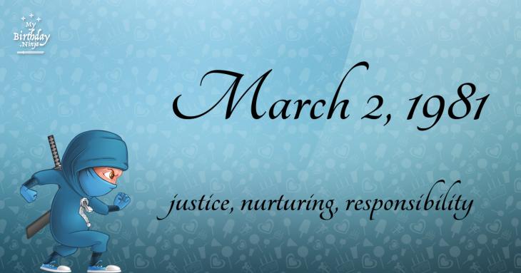 March 2, 1981 Birthday Ninja