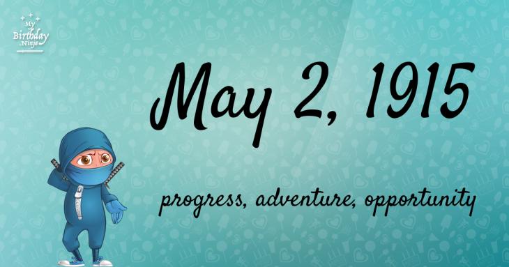 May 2, 1915 Birthday Ninja