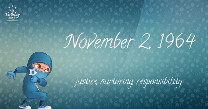 November 2, 1964 Birthday Ninja
