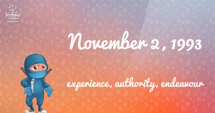 November 2, 1993 Birthday Ninja